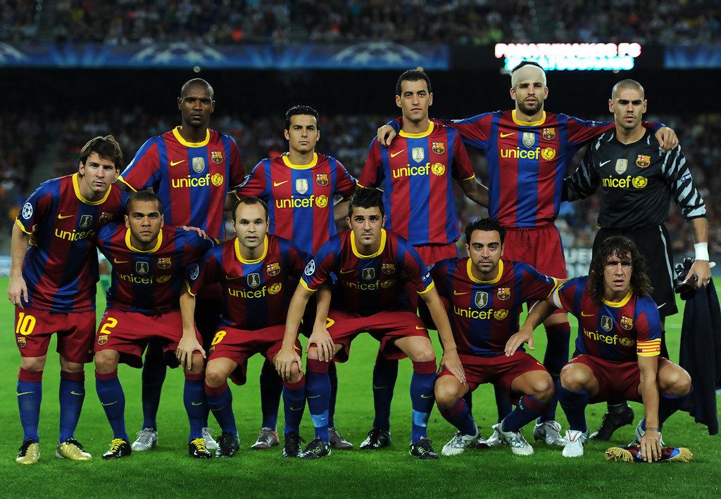 2010 Barcelona kadrosu
