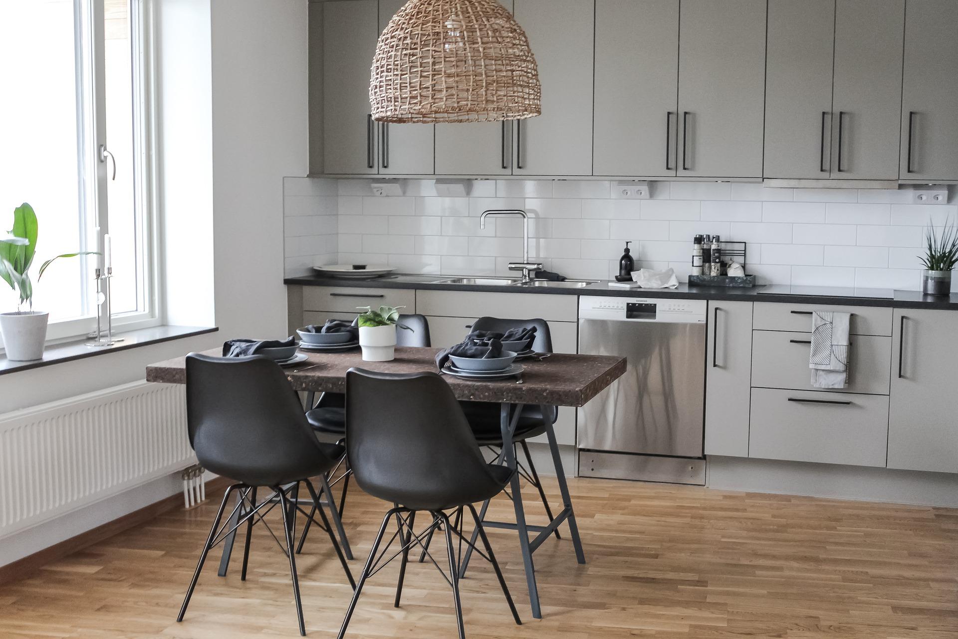 Geniş mutfak tasarımları