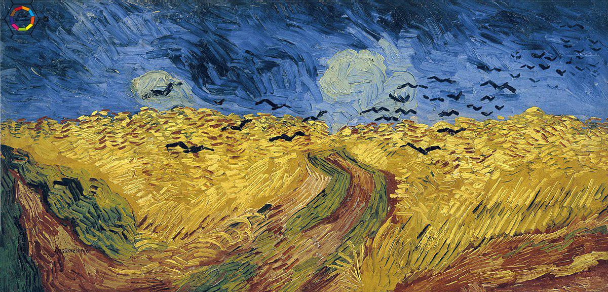 Van Gogh'un kargalar ve buğday tarlası tablosu