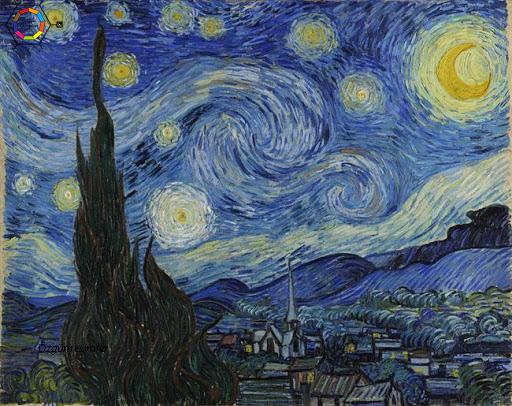 Van Gogh'un en ünlü resimlerinden Yıldızlı Gece