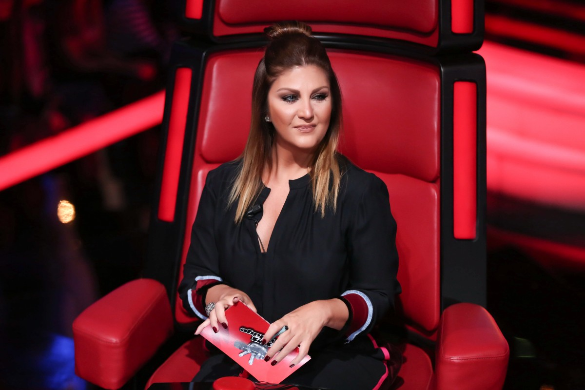 Sibel Can'ın o ses türkiye programında jüri üyeliği yaparken çekilmiş fotoğrafı