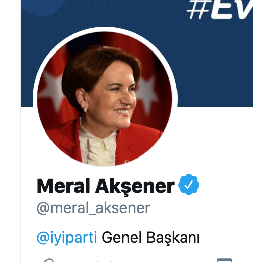 Meral Akşener Twitter profil resmi