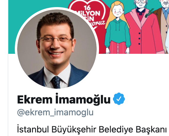 Ekrem İmamoğlu Twitter profil resmi