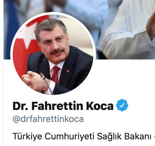 Sağlık Bakanı Fahrettin Koca Twitter profil resmi