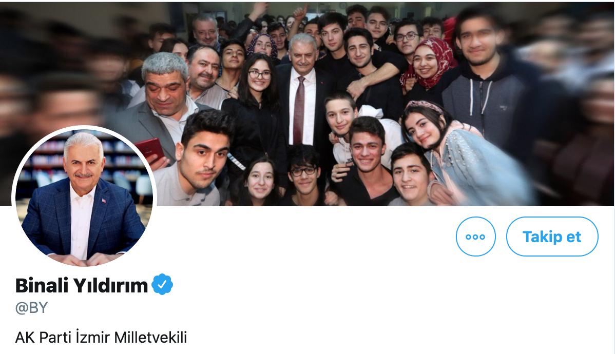 Binali Yıldırım Twitter profil fotoğrafları