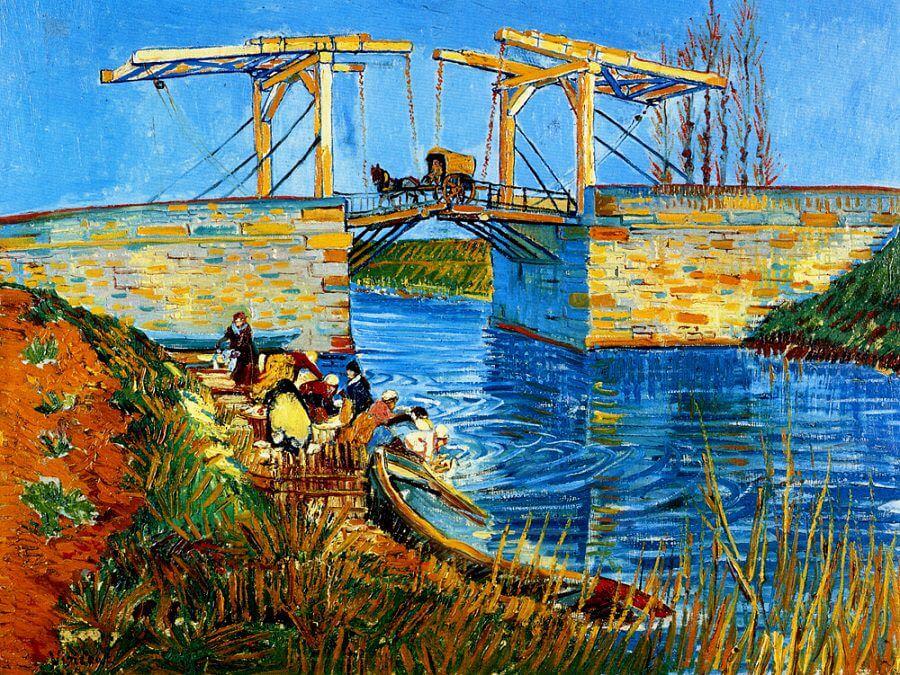 Van Gogh tablolarından Langlois Köprüsü tablosu