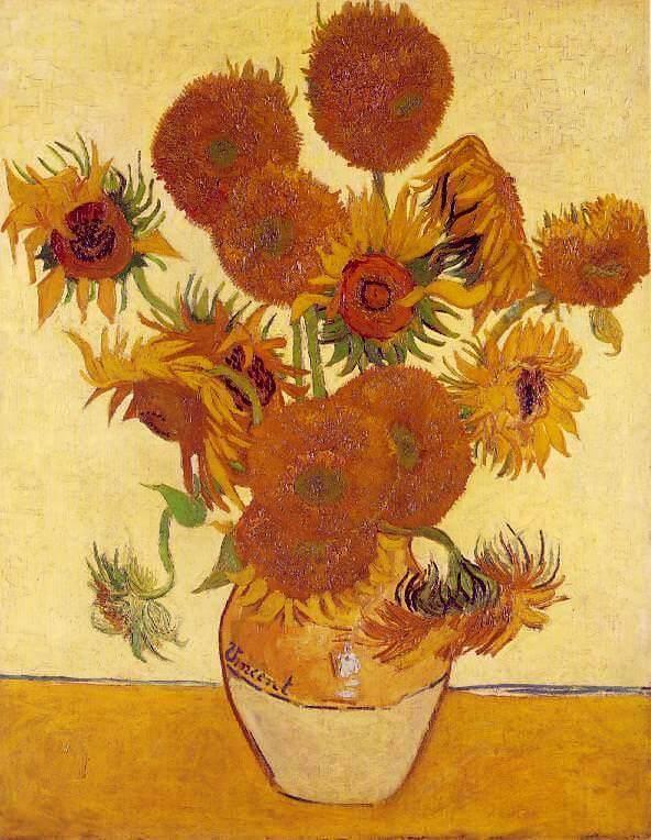 Van Gogh'un ayçiçekleri resmi