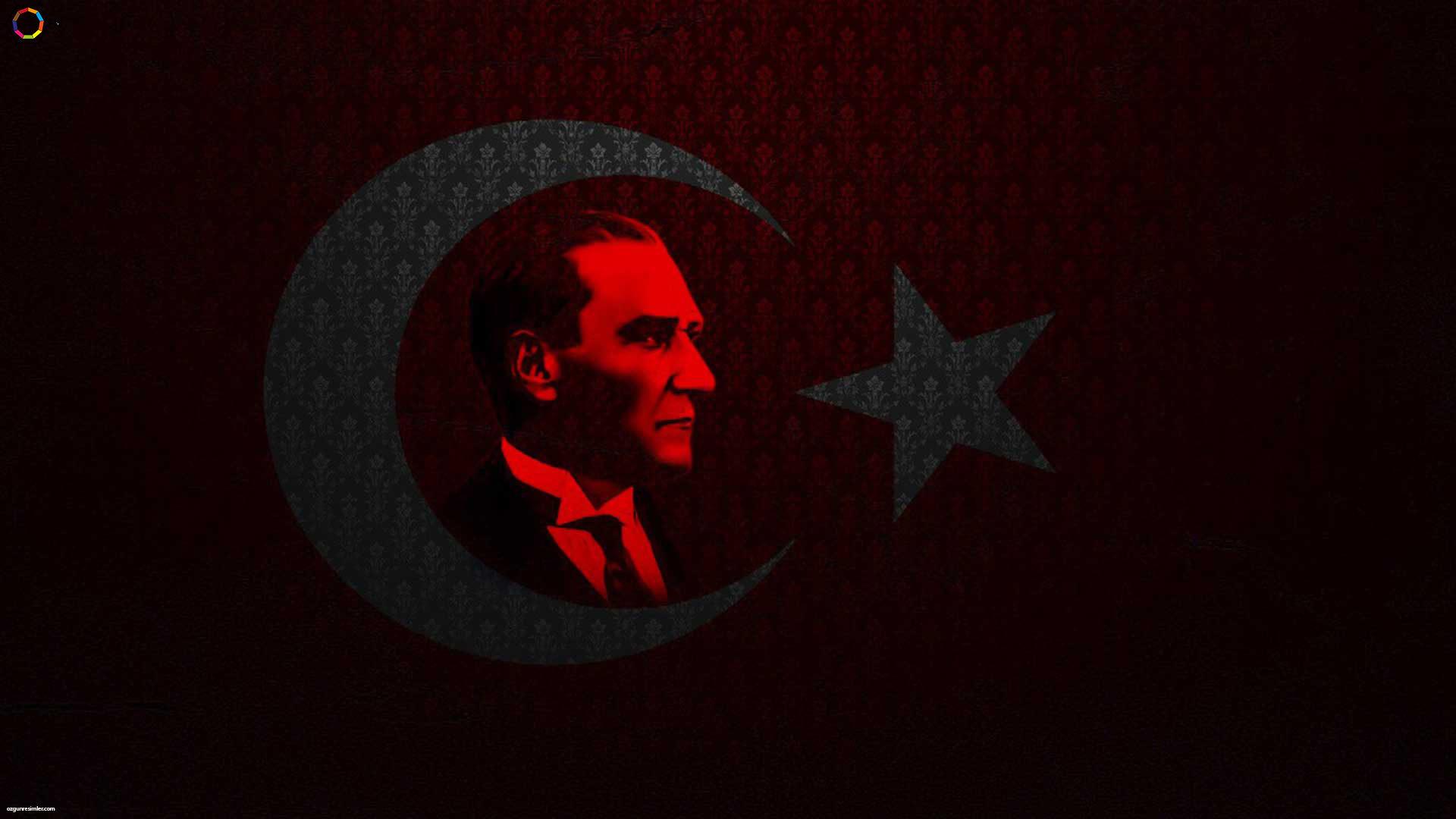 Atatürk temalı masaüstü fotoğrafı.