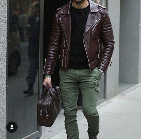 Deri ceket kombini